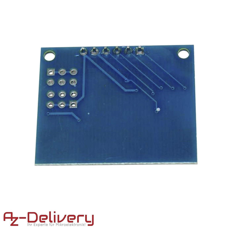 AZDelivery 5 x Matrix Array 4 x 4 Membrane Switch 16 Key Keypad Keyboard for Arduino