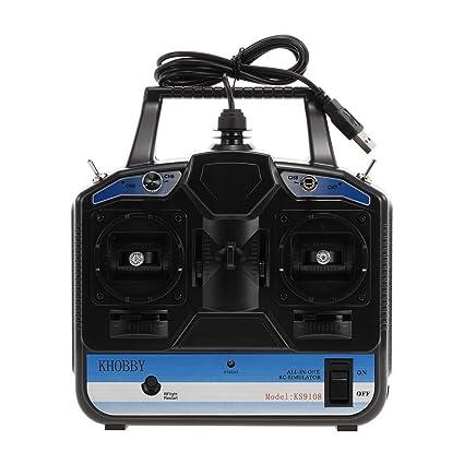 Emulador simulador de Vuelo 18 en 1 8 Canales USB para helicóptero ...