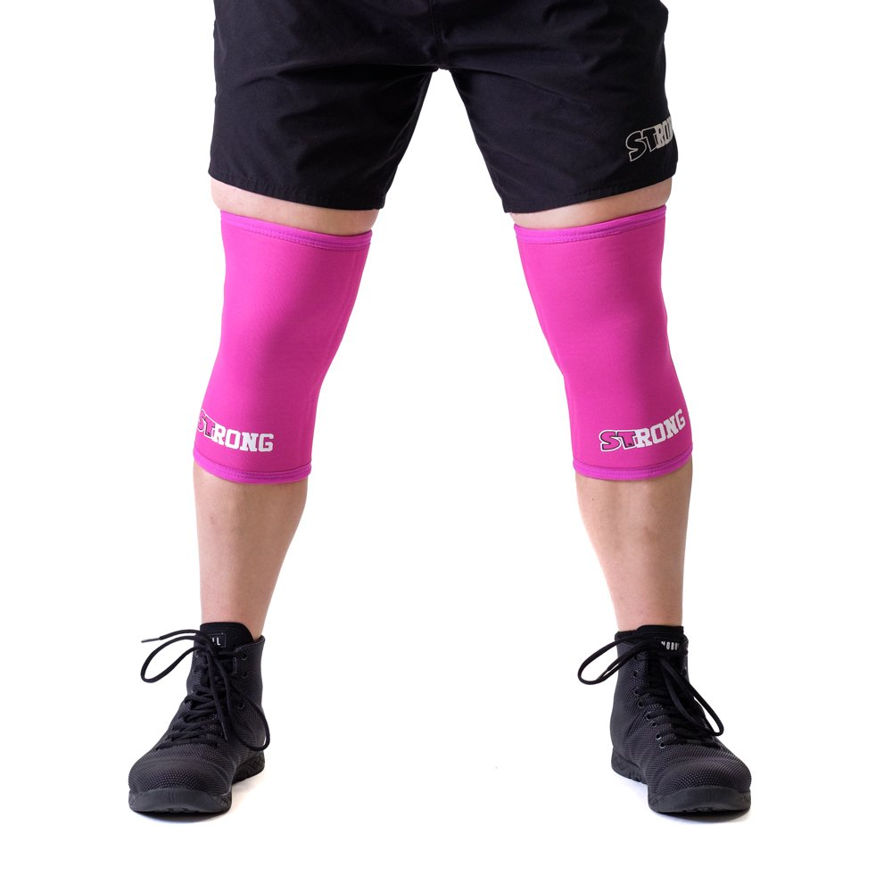 Sling Shot Mark Bell Strong Knee Sleeves, Pink, XS