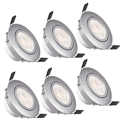 WZTO Foco Empotrable LED Techo, 5W 3000K 480Lumen Ángulo Rotable 30° Ojos de Buey