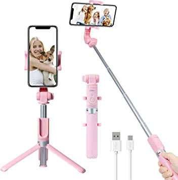 Yokkao Selfie Palo Trípode con Bluetooth 3.0 Remote Extensible Monopie Mini Wireless Selfie Stick 360 ° de Rotacion para iPhone x 8 7 7 Plus 6s 6 5S Samsung Smartphone Android: Amazon.es: Electrónica