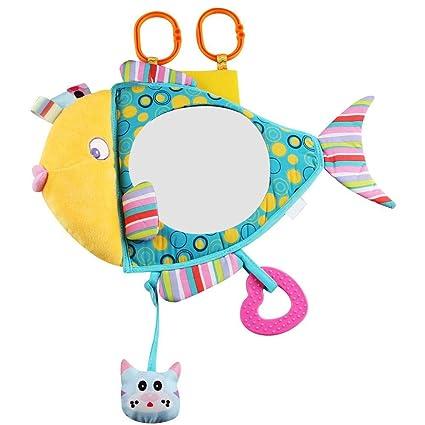 Jouet Miroir Siège Modèle De Poisson Siège Arrière Pour Nouveau Né Bébé Jouet Educatif En Peluche De Dessin Animé Pour Voiture