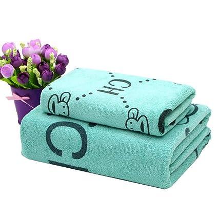BAOLIJIN Bath Towels Set Dibujos Animados niños Algodón Absorbente Toalla de Playa Patrón de Mono Toalla