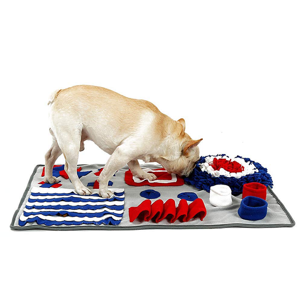 DOG SNUFFLE MAT Treat Blanket, Pet Puzzle Activity Mat for Stress Release,Dog Nosework Mat Thicken Anti-Slip Dog Feed Mat for Training,D