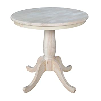 International Concepts Round Top Pedestal Table, 30 Inch