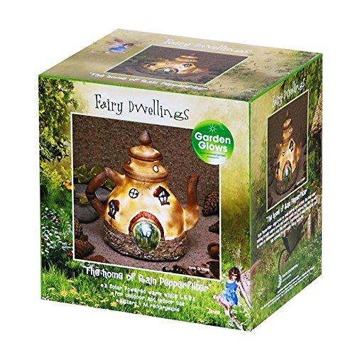 Garden Glows Solar Powered LED Fairy House Ornament Rain Pepperfilter by Garden Glows