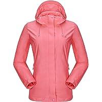 CAMEL CROWN Womens Rain Jacket Waterproof Rain Coat Windbreaker with Hooded