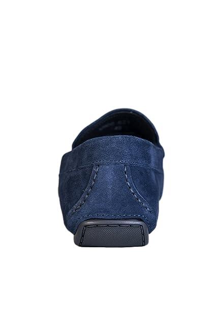 Versace Mocasines de Ante Para Hombre Azul Azul: Amazon.es: Zapatos y complementos