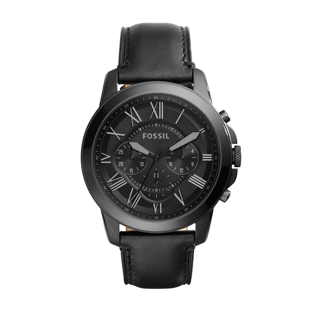 Fossil Men's FS5132 Stainless Steel Watch with Black Band by Fossil