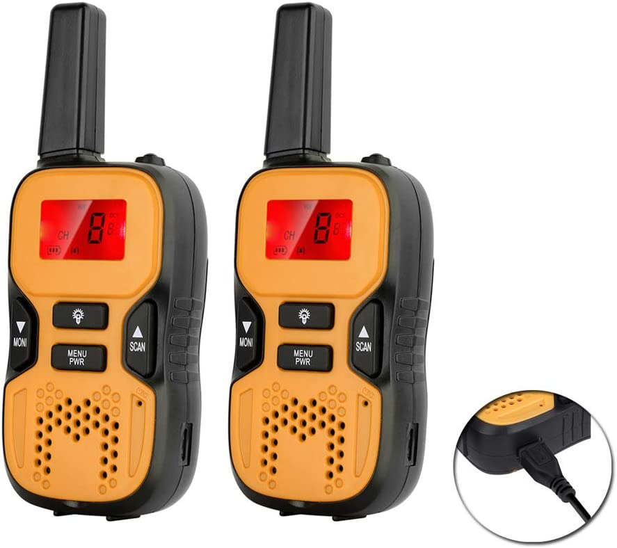 Long Range Radios Childrens Walky Talky with Built in Flash Light Rechargeable Walkie Talkies for Kids Family Interaction