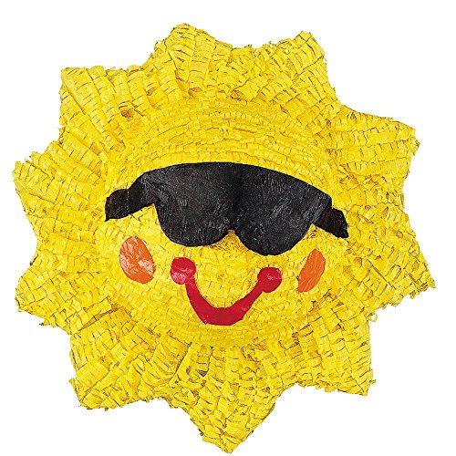 Fun Express - Sunshine Smile Pinata for Party - Party Decor - General Decor - Pinatas - Party - 1 Piece ()