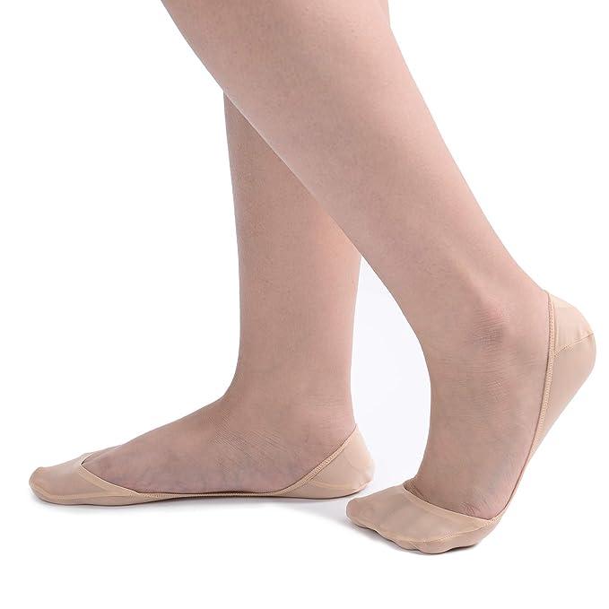 Amazon.com: 4 pares de calcetines Truly No Show con cojín ...