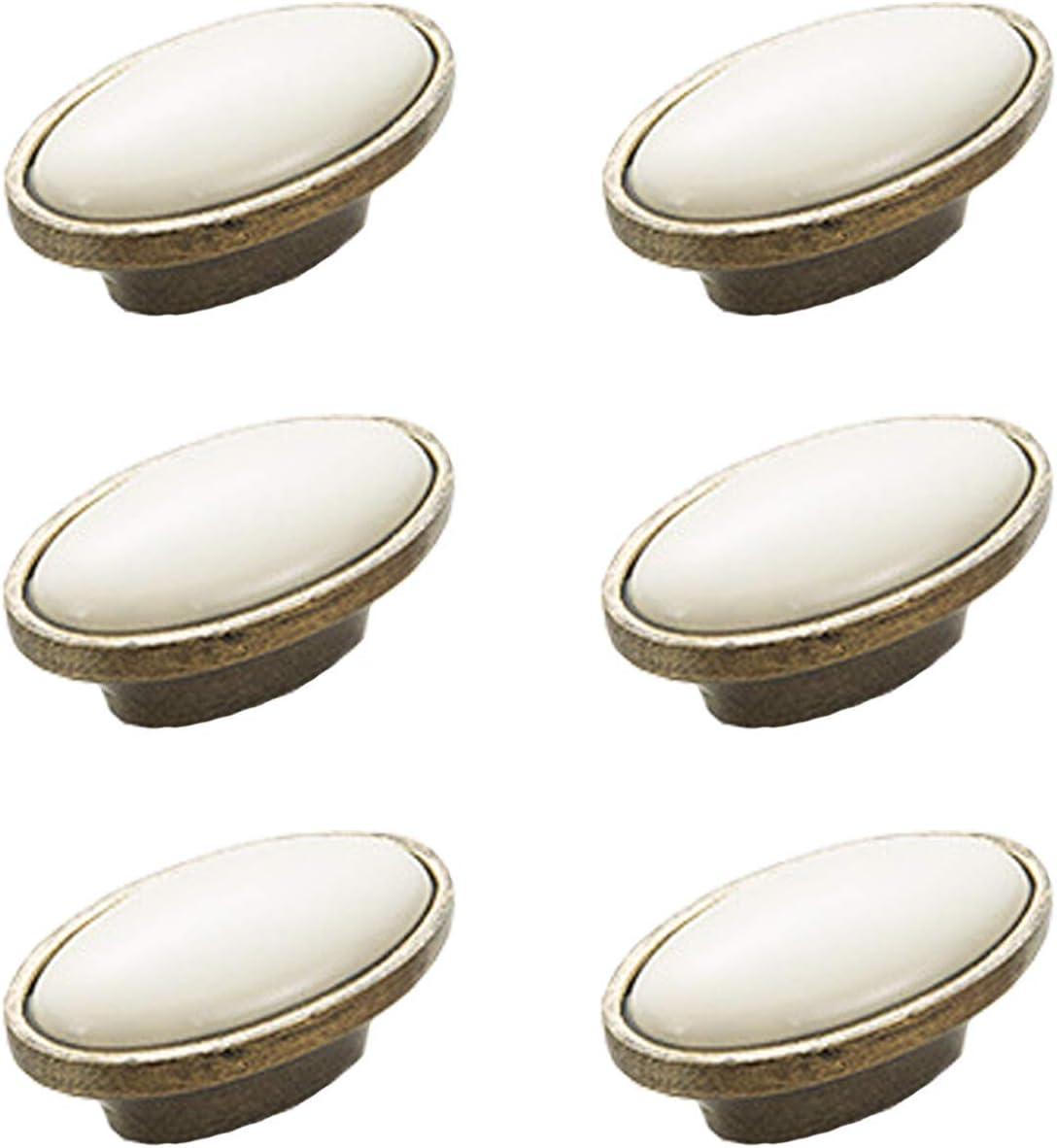 6 st/ücke Wei/ß Keramik Kabinett Kn/öpfe Hole Distance 96mm - A Schrankt/ür Zieht Antike Bronze Griff Schublade Kleiderschrank M/öbel Hardware Zubeh/ör Griff