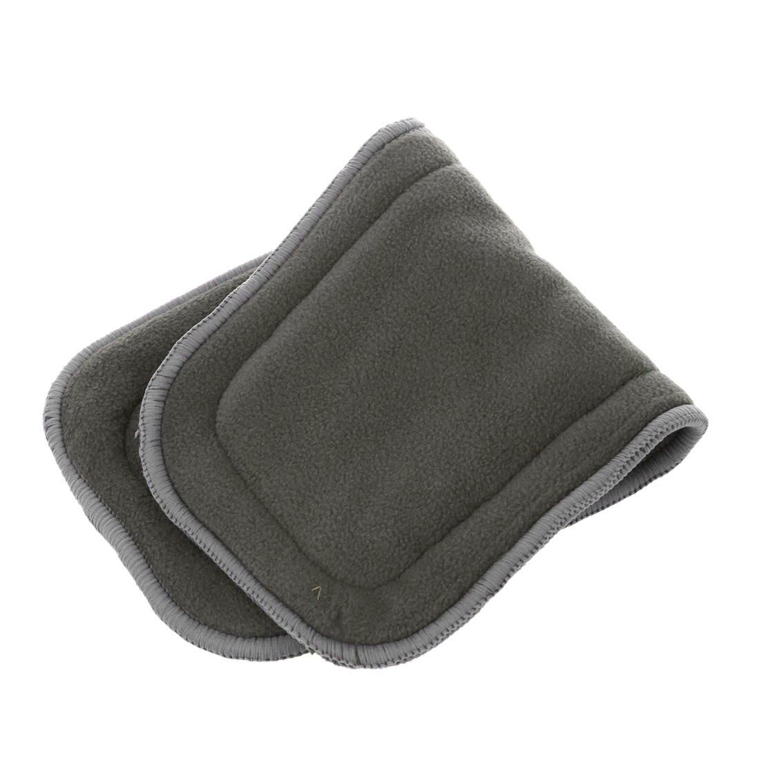 Panales de fibra de bambu - TOOGOO(R)Panales Metedor tela lavable de carbon de fibra de bambu Inserta reutilizables 5 capas Gris: Amazon.es: Bebé