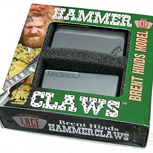 Lace ピックアップ Brent Hinds of Mastodon's Signature Set - Hammer Claws Smoke Chrome レース マストドン ギター ピックアップ セット スモーク クローム パーツ 【並行輸入品】   B00V0K8AEC