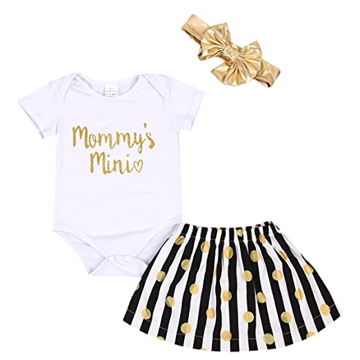 c9222bc5c Emmababy Baby Girls Bodysuit Romper Newborn Sunsuit Jumpsuit Outfit Infant  Dress Clothes Set with Headband (