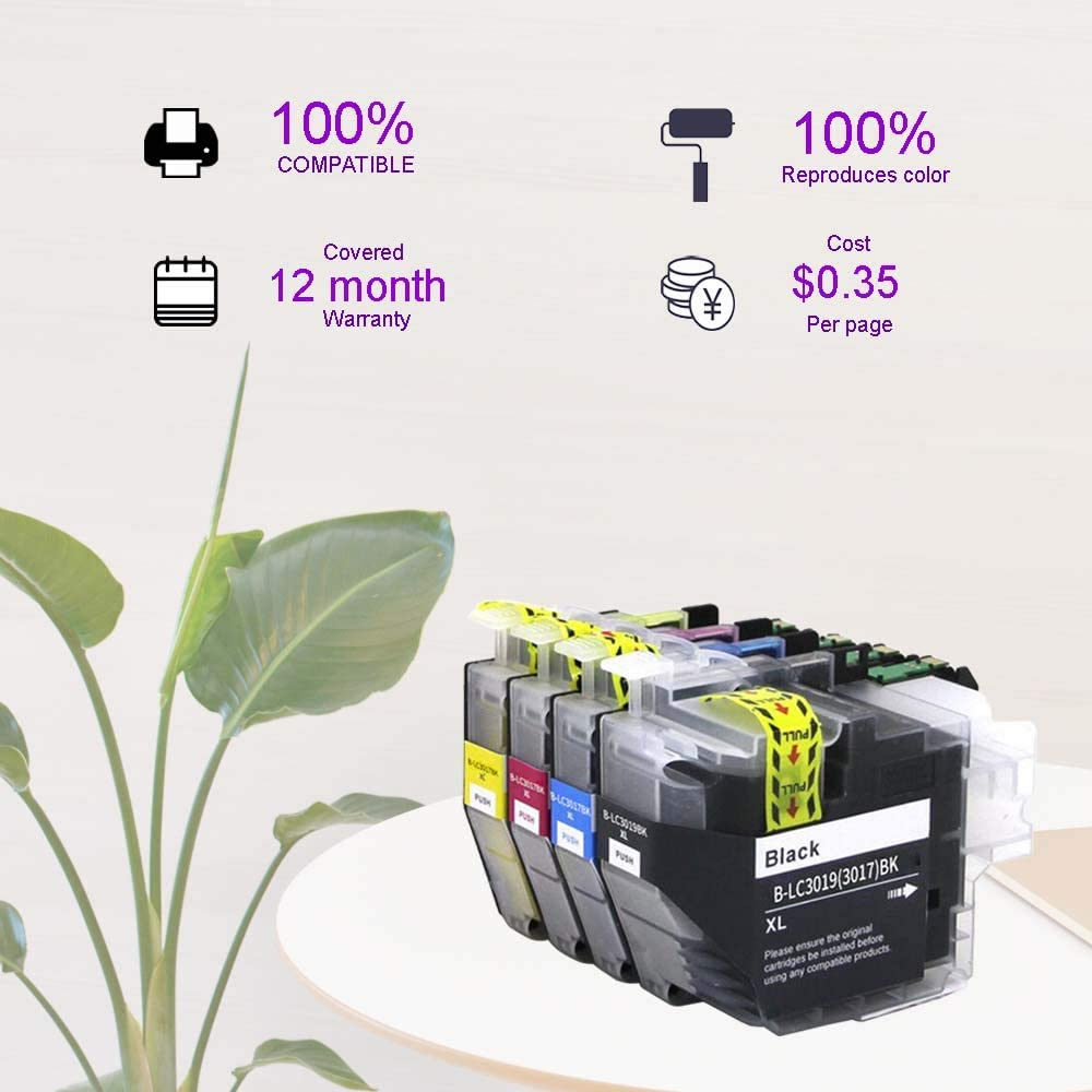 OGOUGUAN Compatible Ink Cartridge Replacement for Brother LC 3019 LC3019 XXL Used with Brother MFC-J6930DW MFC-J5330DW MFC-J6530DW MFC-J6730DW Printer 1 Black, 1 Cyan, 1 Magenta, 1 Yellow, 4-Pack