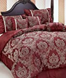 Chezmoi Collection 3 Pieces Solid Purple Soft Micro Suede Comforter with Pillowcase Set Queen Size Bedding