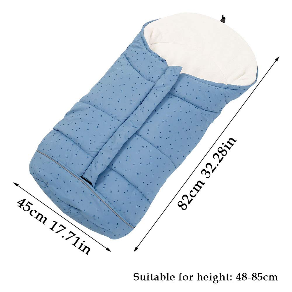 Saco polar universal ZhongYeYuanDianZiKeJi Saco de invierno Universal para cochecito dormir t/érmico para carrito silla de beb/é,Protecci/ón antideslizante Azul