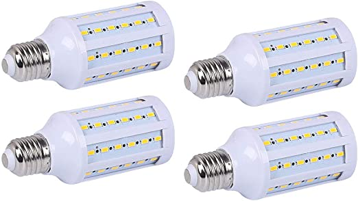 85V-265V MD Lighting 30W E27 LED Corn Light Bulbs 2 Pack - 108 LEDs 5730 SMD 2700 Lumen COB Light Lamp Ultra Bright Warm White 3000K LED Bulb 240 Watt Equivalent for Backyard Barn Outdoor Large Area