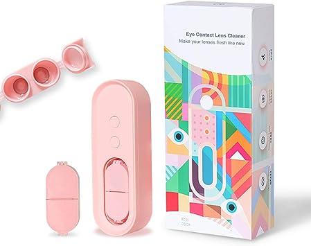 Inmorven Máquina de limpieza automática de lentes de contacto Inmorven Caja de lavado de limpieza rápida ultrasónica, USB recargable para negocios/viajes, protege los ojos. (Rosa): Amazon.es: Salud y cuidado personal