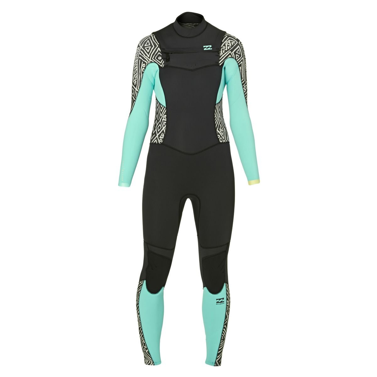 Billabong Ladies Synergy 5/4mm Chest Zip Wetsuit in Geo Diamond