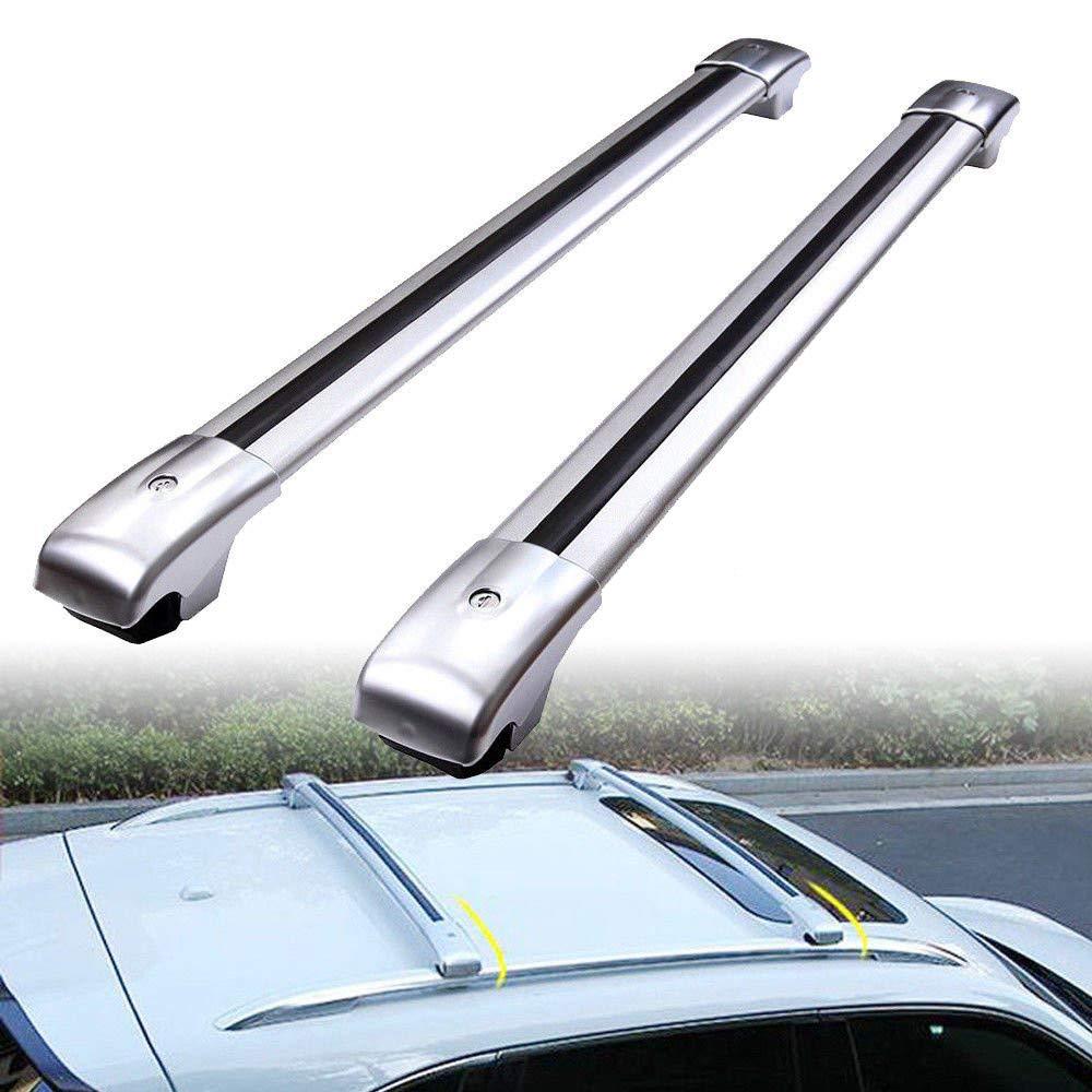 Autoxrun 2 Pcs Crossbars Replacement for 2015-2018 Ford Escape Kuga Lockable Baggage Luggage Racks Roof Racks Rail Cross Bar
