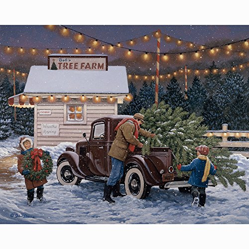 Bits and Pieces - 500 Piece Jigsaw Puzzle for Adults - Tree Farm - 500 pc Christmas, Holiday Jigsaw by Artist John Sloane