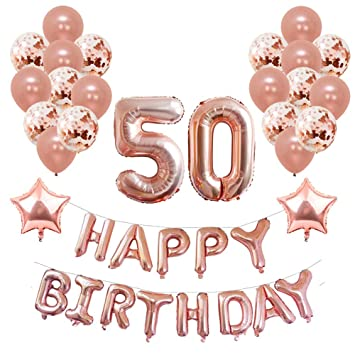 50th birthday party decorations for girl