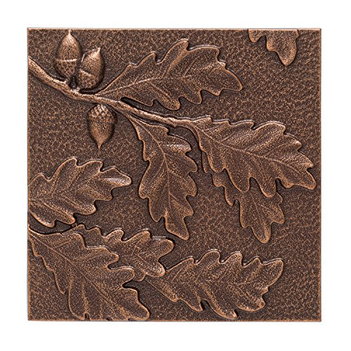 Shields Wall Sculpture (Whitehall Products Oak Leaf Wall Decor, Antique Copper)