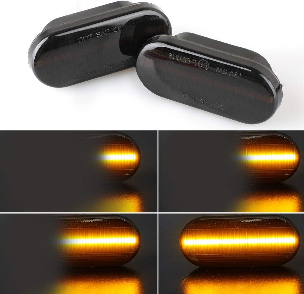 1 paire de feux de position lat/éraux marqueurs lat/éraux LED ambre clignotant pour MK4 B5 B5.5 lentille noire