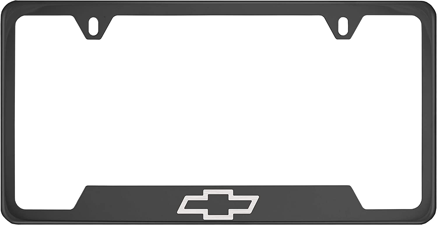 Plating Color Fit Chevy Fit Chevrolet Polished Stainless Steel Black Chrome License Plate Frame