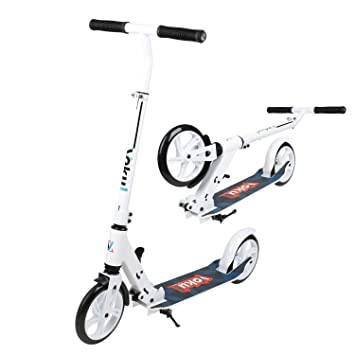 Vokul Patinete Plegable de 2 Ruedas Grandes City Kick Scooter, Patinete Urbano para Adultos con