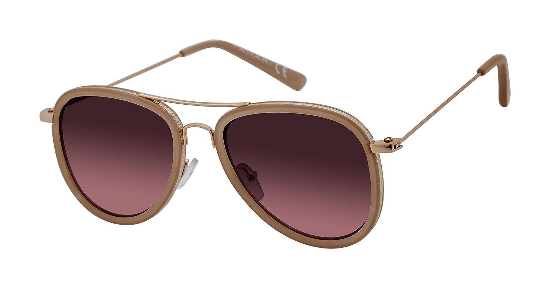 21ba32b516b35 Amazon.com  Elie Tahari Women s Th700 Ndrgd Aviator Sunglasses