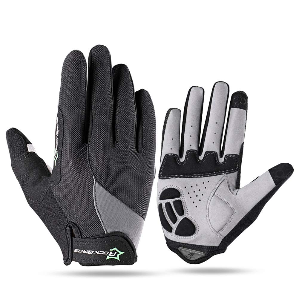 AINIYF Full Finger Gloves | Spring And Autumn Winter Full Fingers Gloves Touch Screen Anti-Slip Full Finger Motorcycle Gloves Cycling Equipment (Color : Black, Size : M) by AINIYF (Image #1)