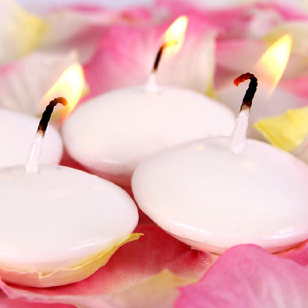 10PCS Bougies Flottantes pour Decoration Mariage Maison Repas Blanc