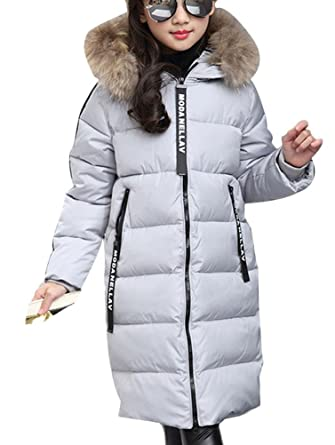 52a36eba0 MILEEO Girls  Coat - Grey - 122 128 cm  Amazon.co.uk  Clothing