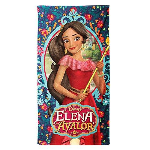 Disney Elena di Avalor Destiny Telo Mare Bambini Ragazza/o Utile per Spiaggia, Piscina, Palestra