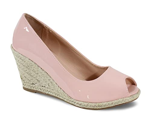 b3dedef33b01f By Shoes - Espadrille Compensée Style Cuir - Femme - Taille 40 - Pink