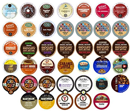 : Crazy Cups Single Serve Cups for Keurig K cup Brewer Variety Pack sampler