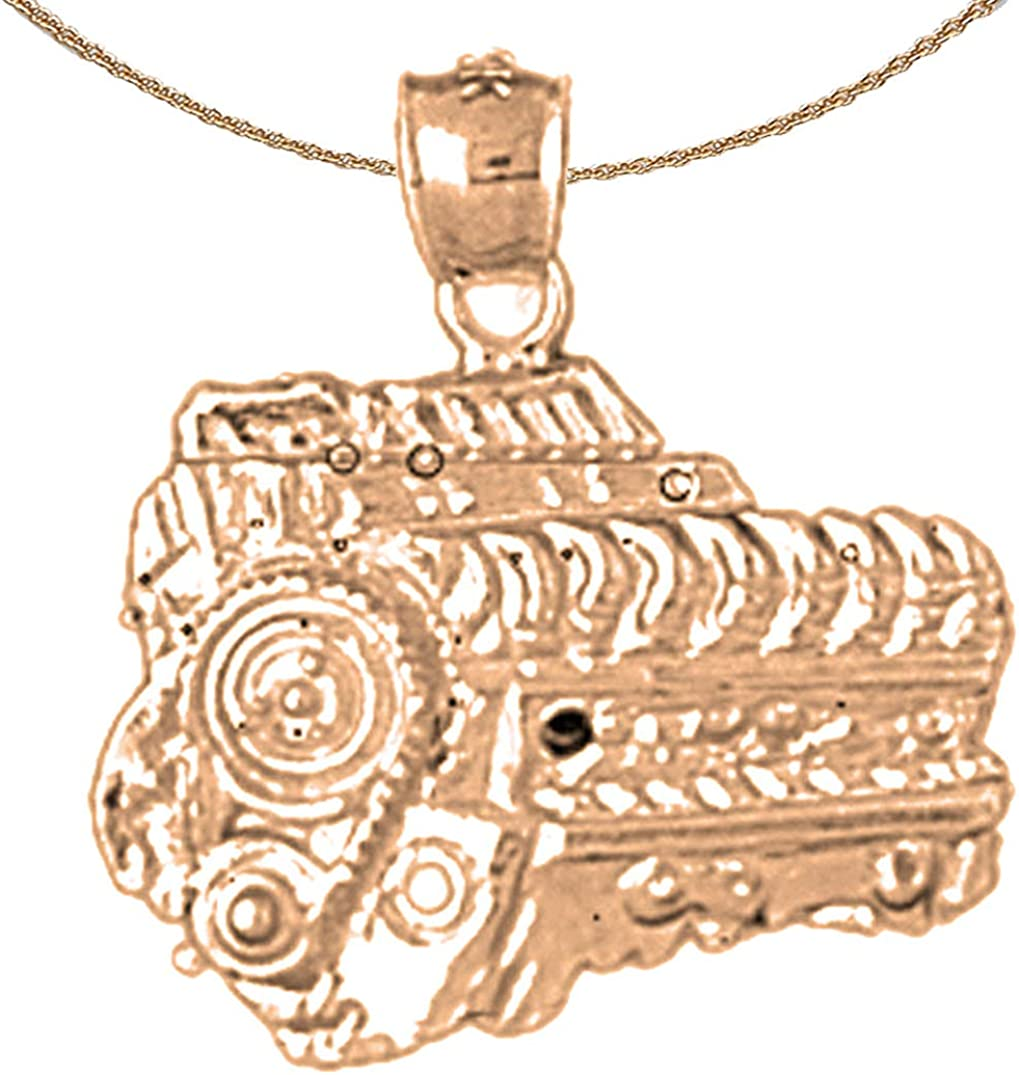 Jewels Obsession Silver Car Necklace Rhodium-plated 925 Silver Car Pendant with 18 Necklace