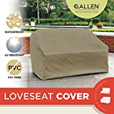 Allen Patio Protectors Patio Love Seat Cover, Weather & Waterproof Love Seat Cover