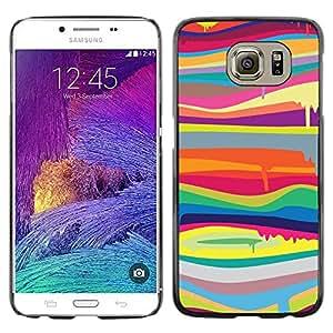 Paccase / SLIM PC / Aliminium Casa Carcasa Funda Case Cover para - Colors Lines Abstract Colorful - Samsung Galaxy S6 SM-G920