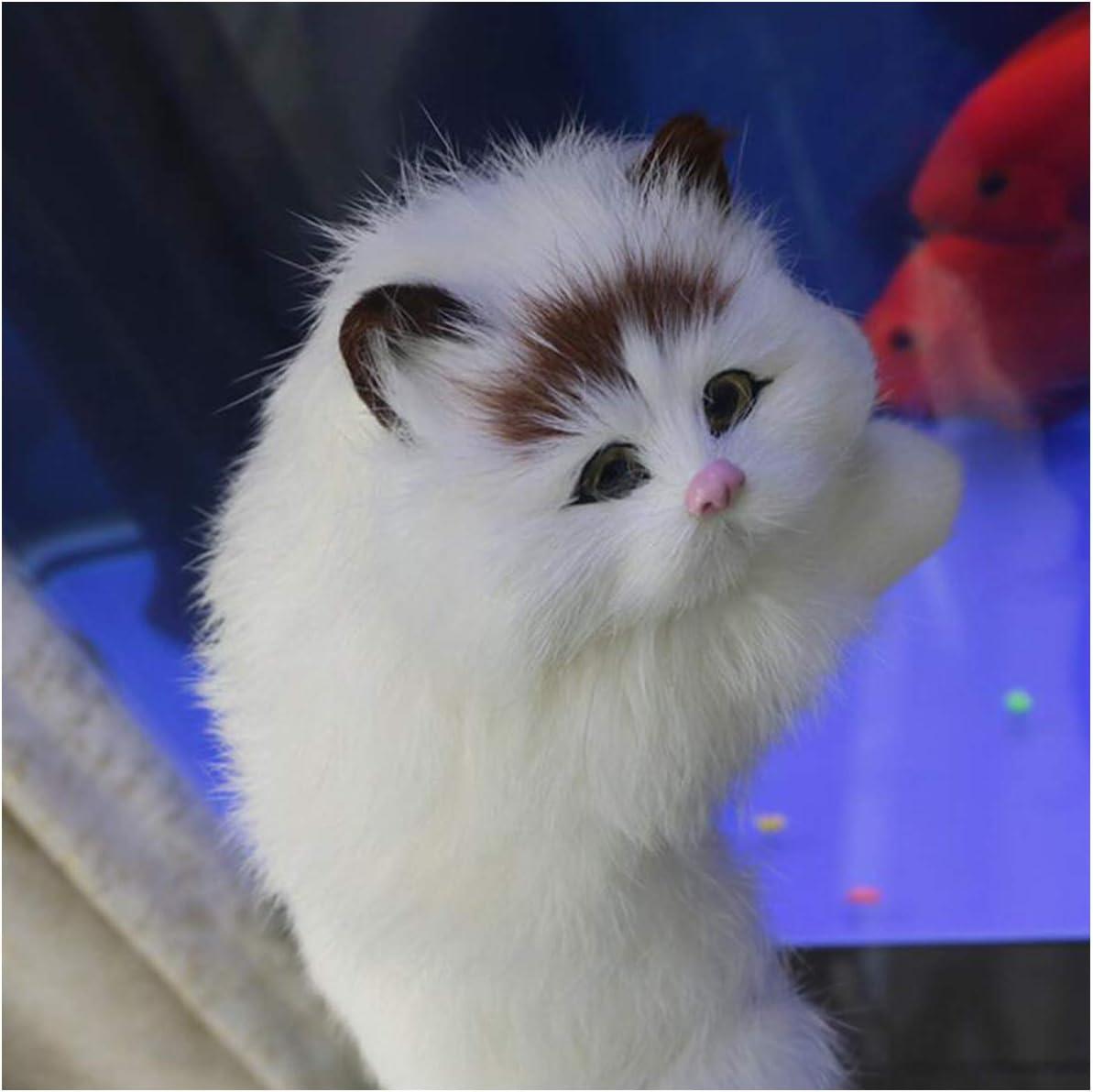 Juguete Modelo de Gato simulado - Figura de Juguete de Gatito de Peluche Realista - Modelo Animal de Felpa Realista - para Adornos de decoración del hogar Niños Navidad o Regalo de cumpleaños Juguete