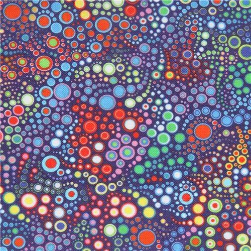 dark purple dot fabric, design: Amelia Caruso, Collection: Effervescence Digital (per 0.5 yard unit)