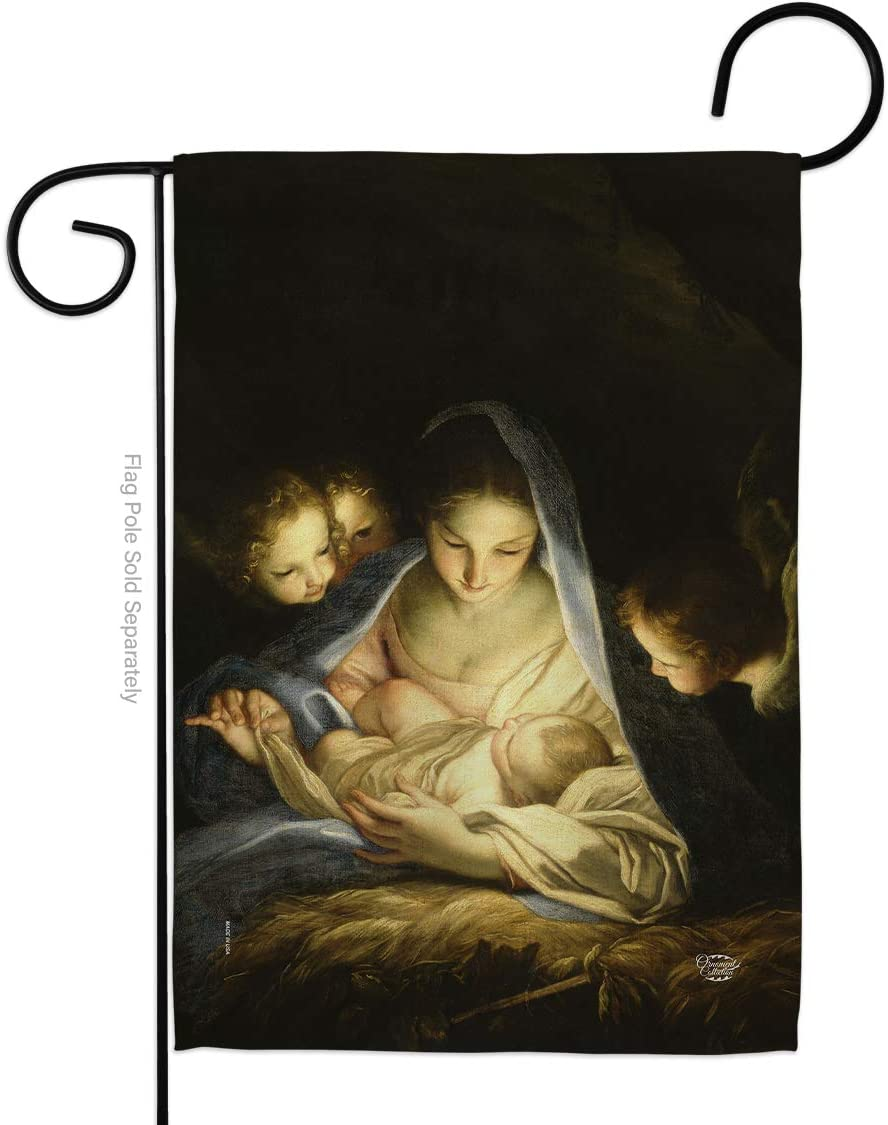 Ornament Collection Holy Night Garden Flag Winter Nativity Three King Religious Family Season Wintertime Christian House Decoration Banner Small Yard Gift Double-Sided, Made in USA