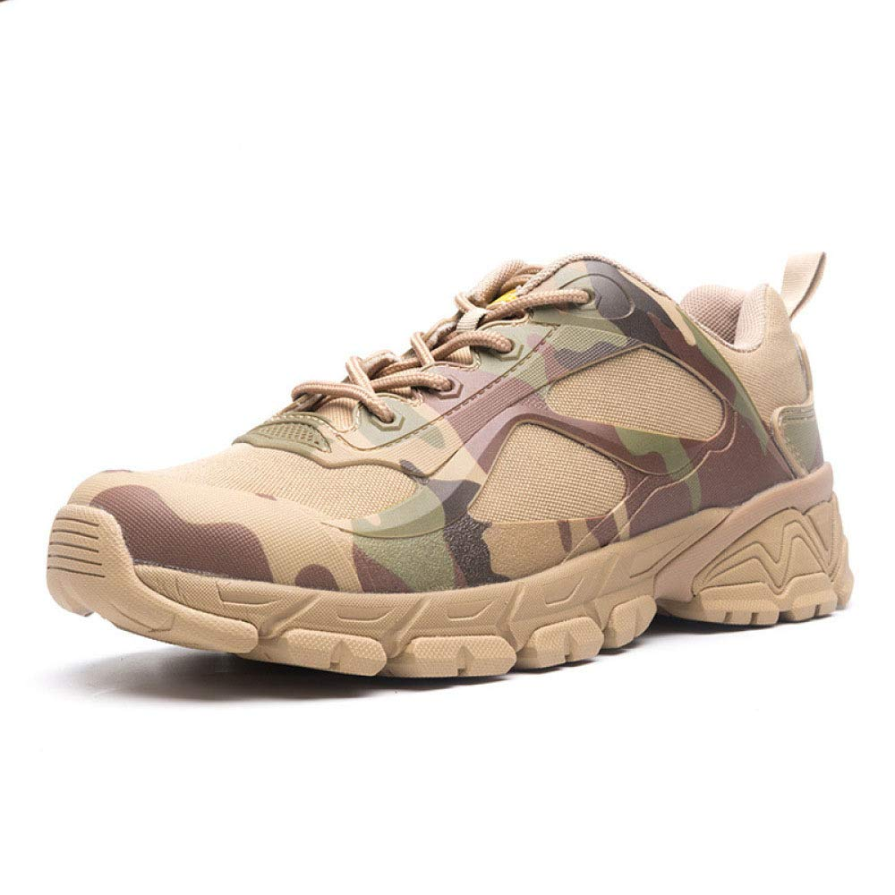 QIKAI Desert-Kampfstiefel Männliche Taktische Stiefel Stiefel Stiefel Army Fan Stiefelschuhe Kampfstiefel Atmungsaktive Outdoor-Schuhe Low-Top Wanderschuhe 7852da