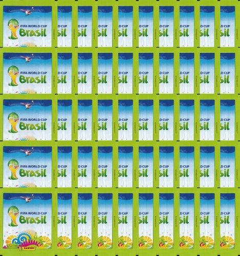 Official Panini FIFA World Cup 2014 Brazil (Brasil) Sticker Pack (50 x Sticker Pack)