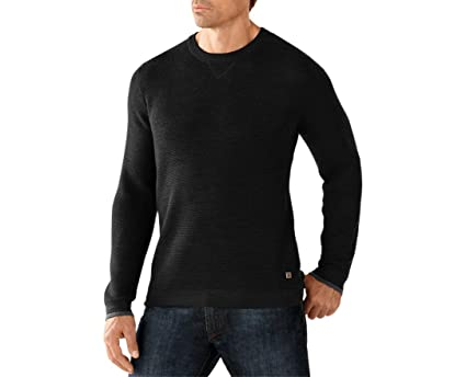57f9deee214e1 SmartWool Men s Cheyenne Creek Crew Sweater (Charcoal Heather) Small