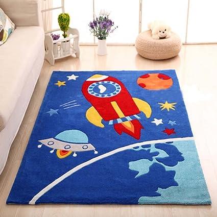 MAXYOYO Boys And Girls Cartoon Carpet Pink/Blue Kids Bedroom Soft Carpet Childrenu0027s  Rugs (